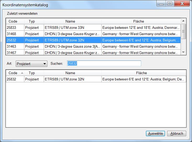 GPX2DWG-Linienimport - Spatial Manager Deutsch